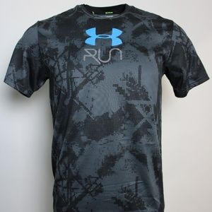 "Under Armour ""RUN"" Heat Gear Graphic T Med."
